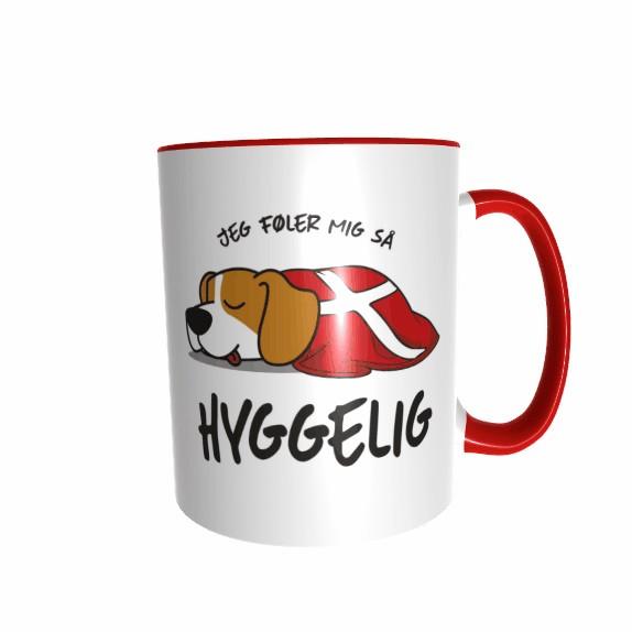 Hygge Hundetasse Beagle Dänemark mit Wunschname