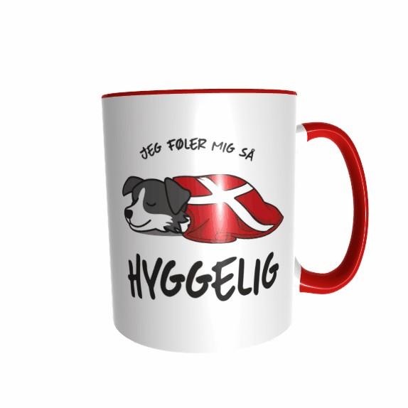 Hygge Hundetasse Border Collie Dänemark mit Wunschname