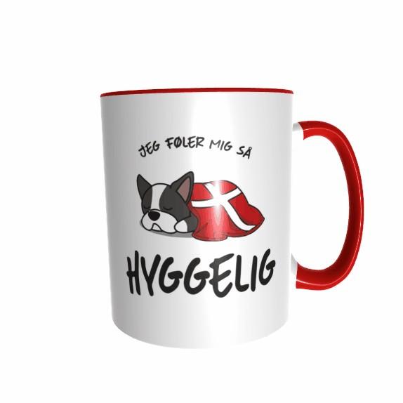 Hygge Hundetasse Boston-Terrier Dänemark mit Wunschname