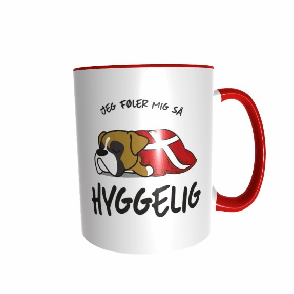 Hygge Hundetasse Boxer Dänemark mit Wunschname