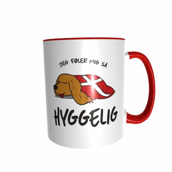 Hygge Hundetasse Cocker Spaniel Dänemark mit Wunschname