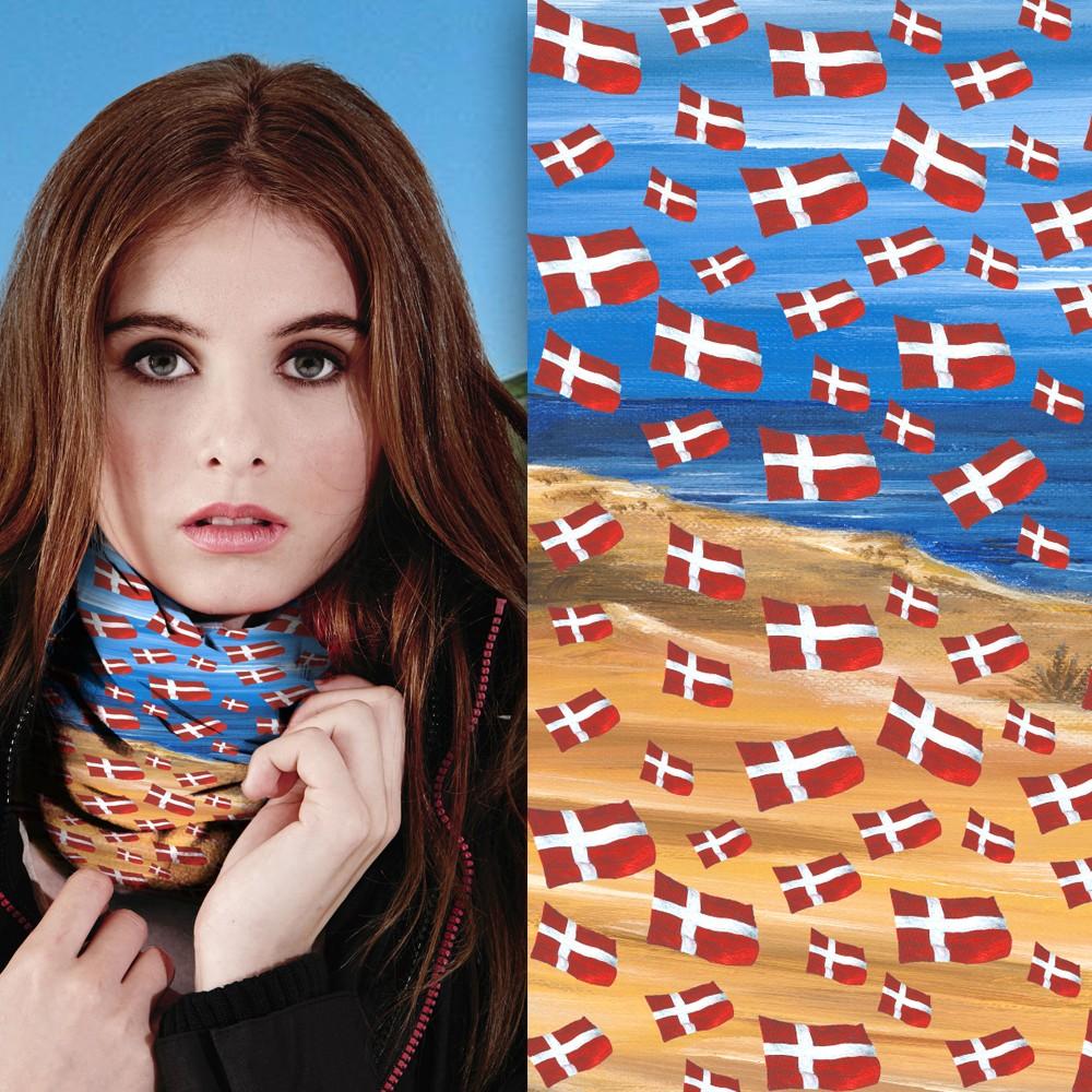 Multifunktionstuch Dänemark Motiv 1