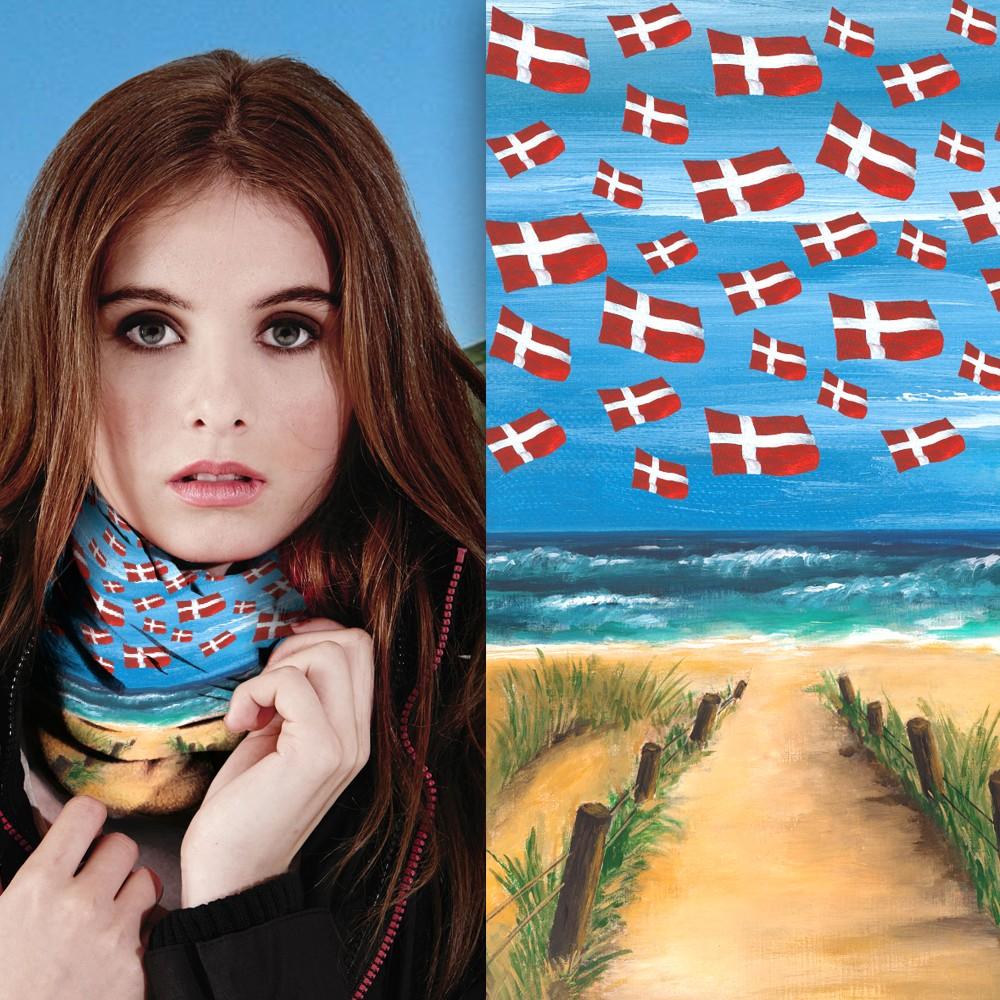 Multifunktionstuch Dänemark Motiv 2