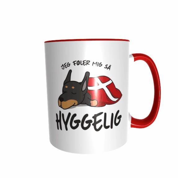 Hygge Hundetasse Dobermann Dänemark mit Wunschname