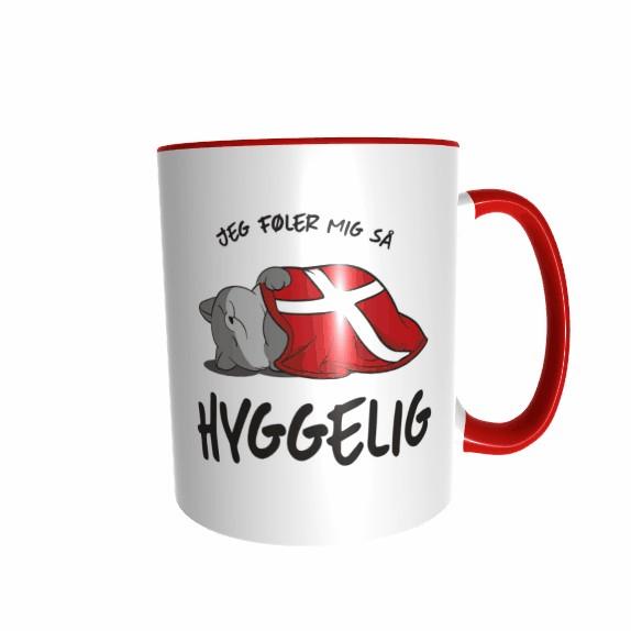 Hygge Miezetasse (Katze grau) Dänemark mit Wunschname