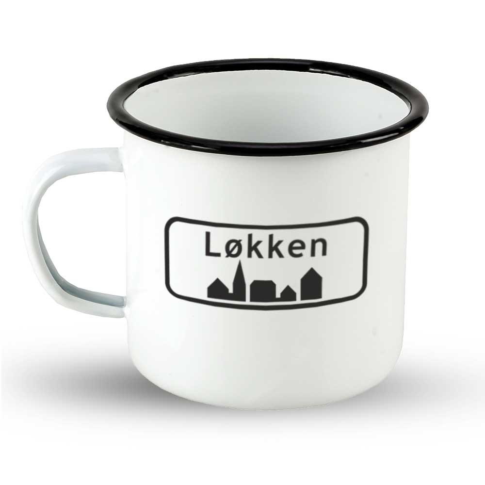 """Emailletasse Ortsschild Dänemark """"Løkken"""""""