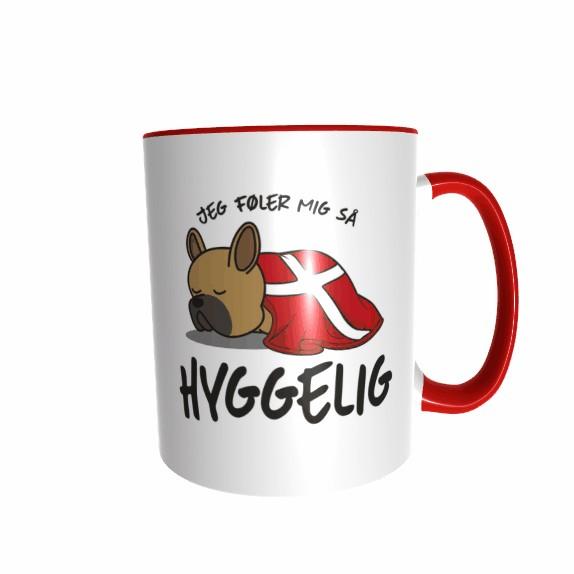 Hygge Hundetasse Französische Bulldogge (braun) Dänemark mit Wunschname