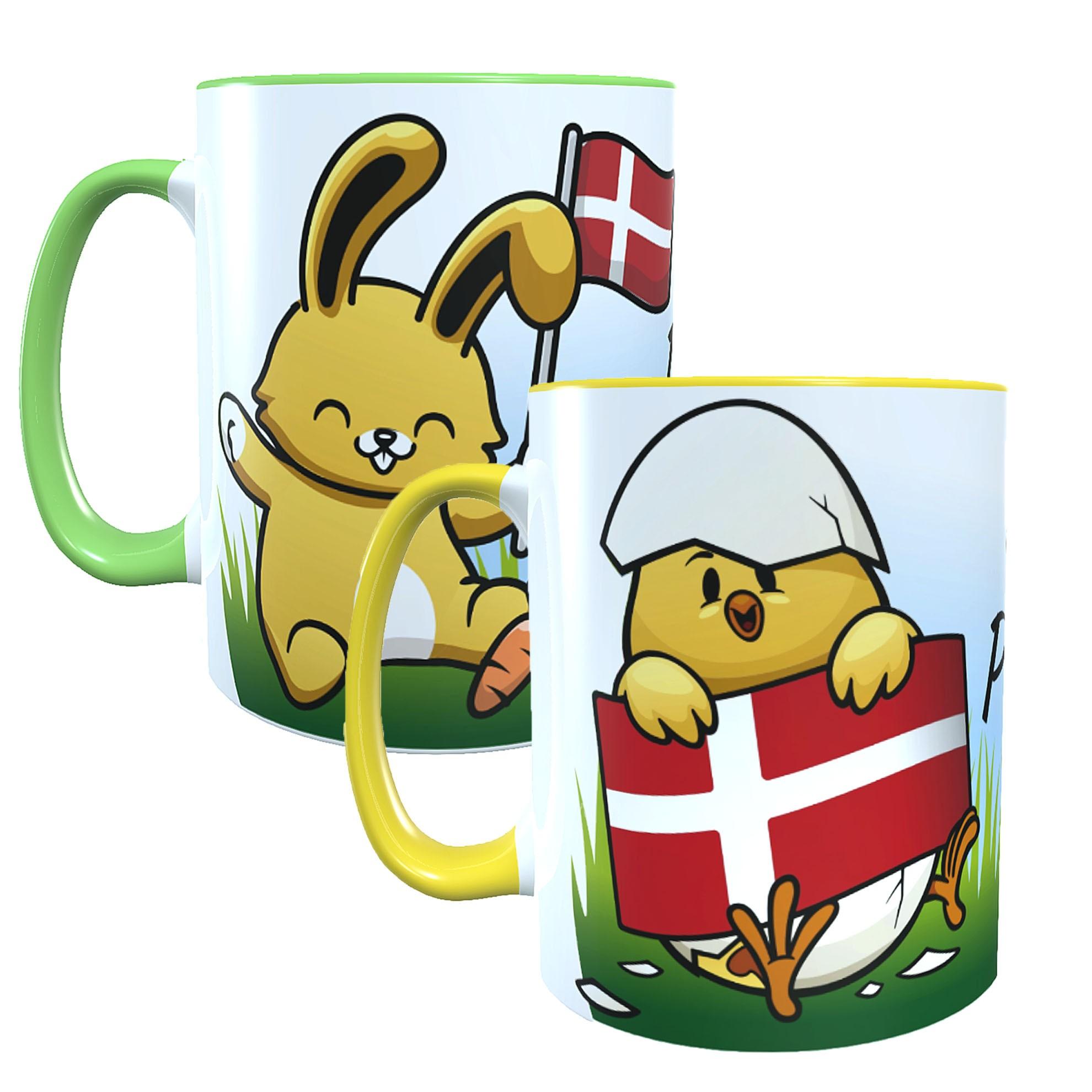 "Keramiktassen ""God Påske"" 2er Spar-Set Ostern Dänemark"