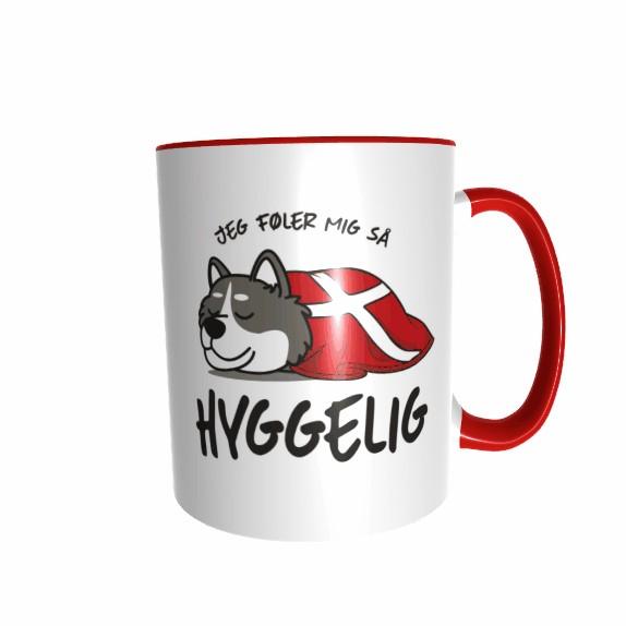 Hygge Hundetasse Husky Dänemark mit Wunschname