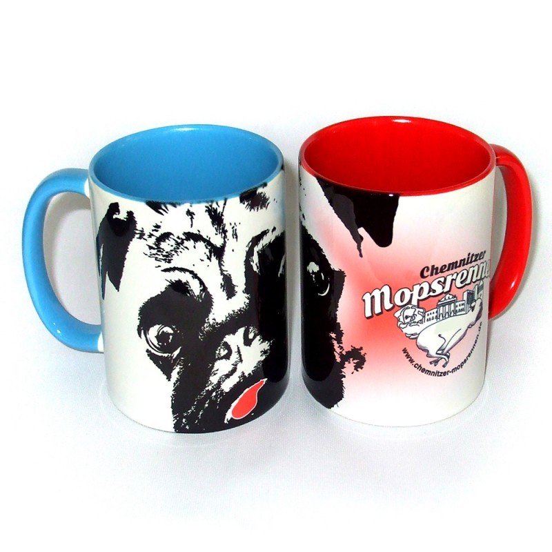 Mopsrennen Tasse SPAR-SET Motiv 2
