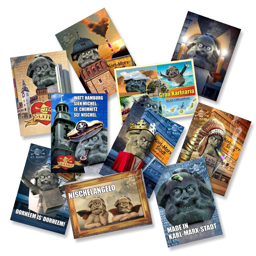 St. Karli Chemnitz Postkarten Set