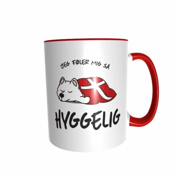 Hygge Hundetasse Samoyed Dänemark mit Wunschname