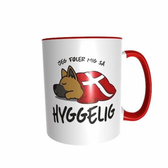 Hygge Hundetasse Schäferhund Dänemark mit Wunschname