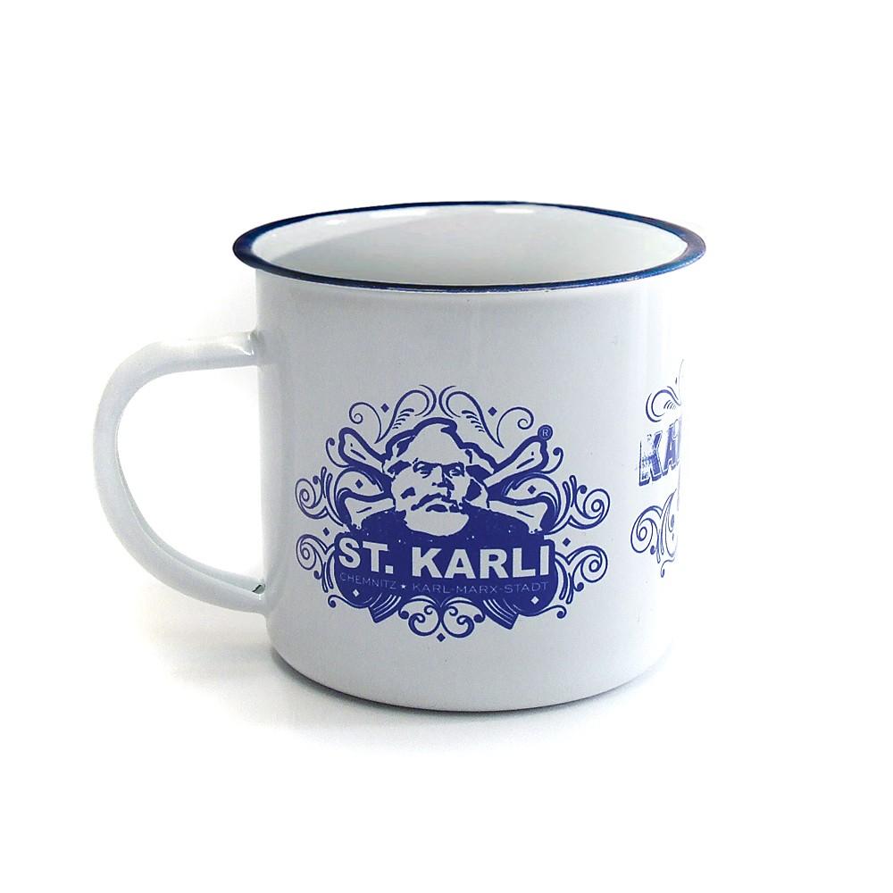 ST. KARLI Retro-Emailletasse