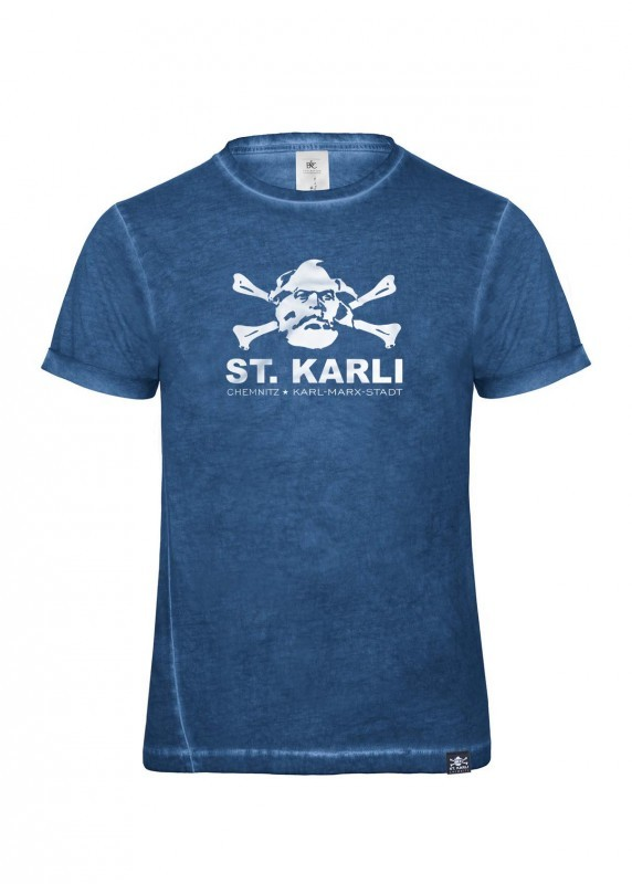 "St. Karli Used Look Shirt ""Blue Clash"""