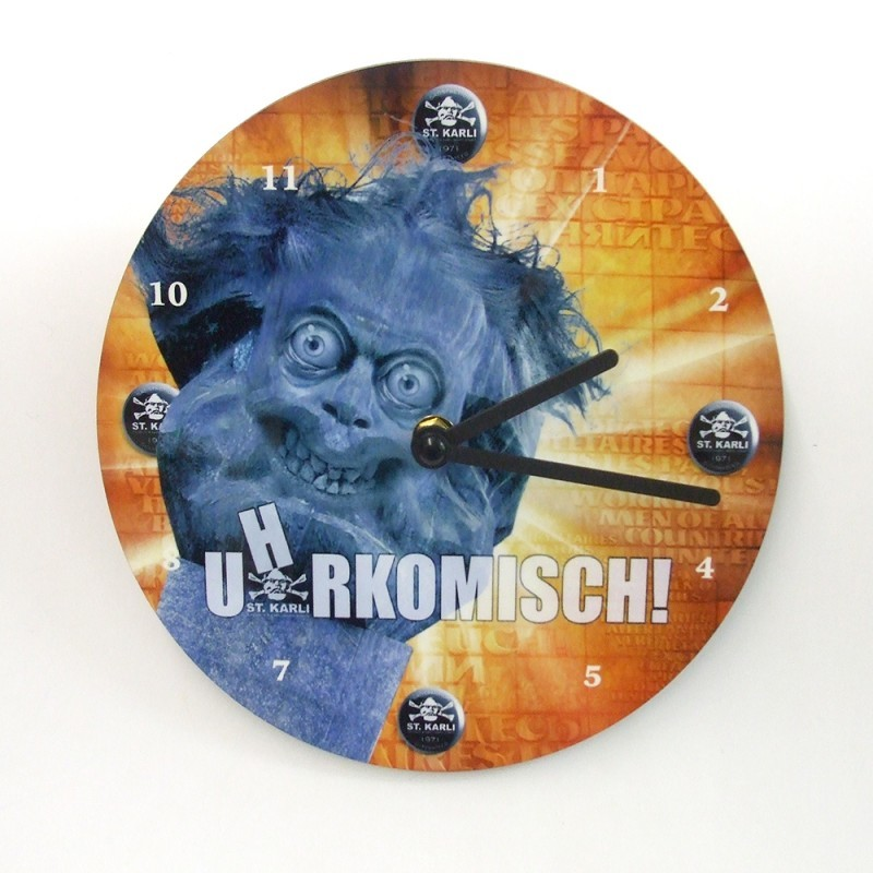 "St. Karli Wanduhr ""U(h)rkomisch"""
