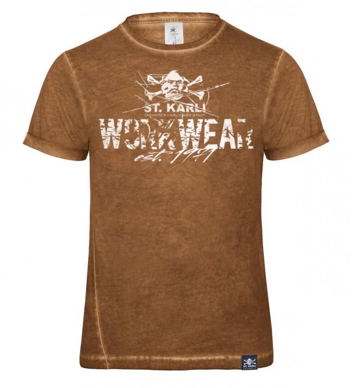 """St. Karli """"Worker Shirt"""" Rusty Clash Slim-Fit"""