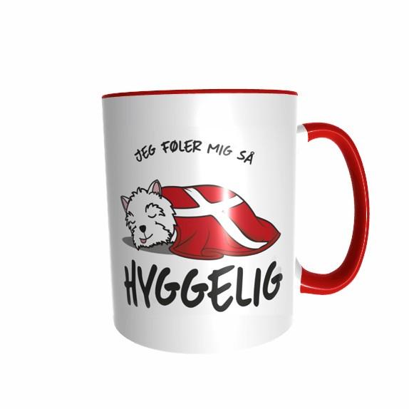 Hygge Hundetasse West Highland White Terrier Dänemark mit Wunschname