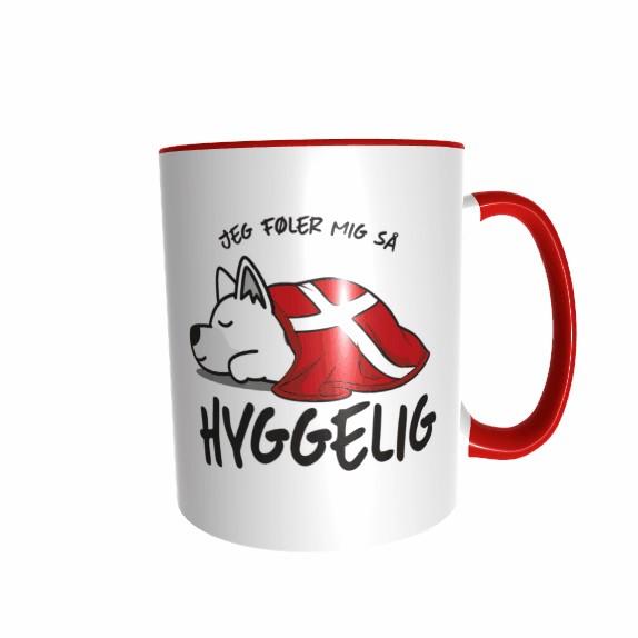 Hygge Hundetasse Schäferhund (weiß) Dänemark mit Wunschname