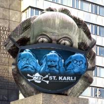 "St. Karli Maske ""Nix hören..."""