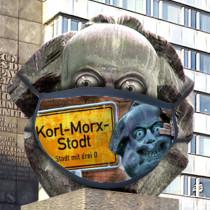 """St. Karli Maske """"KORL-MORX-STODT"""""""