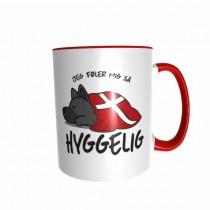 Hygge Hundetasse Schäferhund (schwarz) Dänemark mit Wunschname