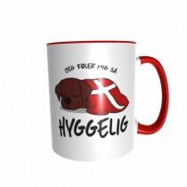 Hygge Hundetasse Labrador (braun) Dänemark mit Wunschname