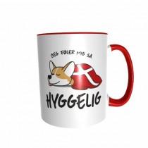 Hygge Hundetasse Corgi Dänemark mit Wunschname