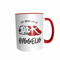 Hygge Hundetasse Dalmatiner Dänemark mit Wunschname