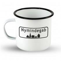"""Emailletasse Ortsschild Dänemark """"Nymindegab"""""""