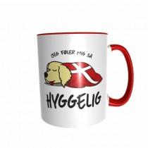 Hygge Hundetasse Golden Retriever Dänemark mit Wunschname