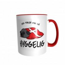 Hygge Hundetasse Mops (schwarz) Dänemark mit Wunschname