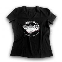 Chemnitzer Mopsrennen Damen T-Shirt V-Neck