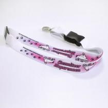 Mopsrennen Schlüsselband rosa
