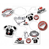 Mopsrennen Sticker-Set