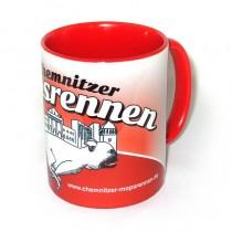 Mopsrennen Tasse rot Motiv 1