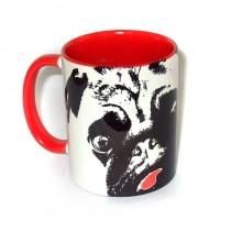 Mopsrennen Tasse rot Motiv 2