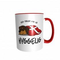 Hygge Hundetasse Rottweiler Dänemark mit Wunschname