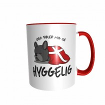 Hygge Hundetasse Französische Bulldogge (schwarz) Dänemark mit Wunschname