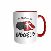 Hygge Hundetasse Pudel (schwarz) Dänemark mit Wunschname