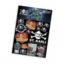 ST.KARLI Sticker-Set groß