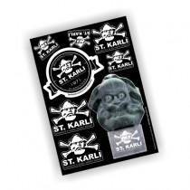 ST. KARLI - Sticker-Set klein
