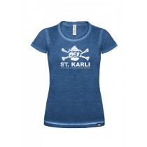 "St. Karli Used Look Lady Shirt ""Blue Clash"""