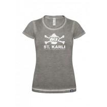 "St. Karli Used Look Lady Shirt ""Grey Clash"""