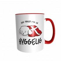 Hygge Hundetasse Pudel (weiß) Dänemark mit Wunschname