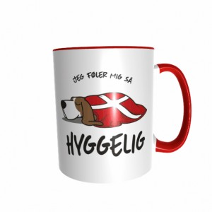 Hygge Hundetasse Basset Hound Dänemark mit Wunschname
