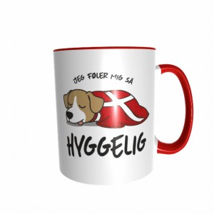 Hygge Hundetasse Jack Russel Dänemark mit Wunschname