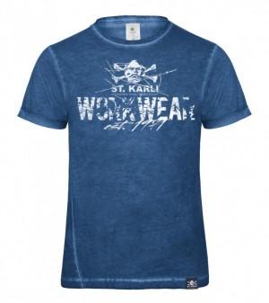 "St. Karli ""Worker Shirt"" Blue Clash Slim-Fit"
